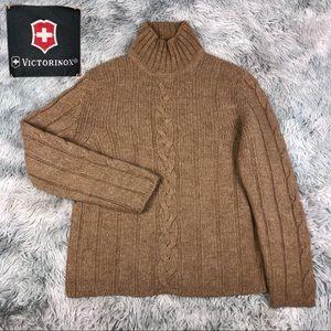 VICTORINOX Alpaca Merino Wool Cable Knit Sweater L
